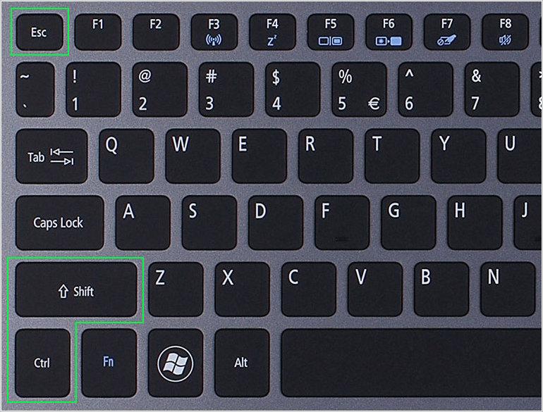Горячие клавиши открытия диспетчера устройств