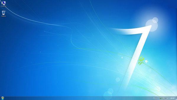 Рабочий стол установленной Windows 7