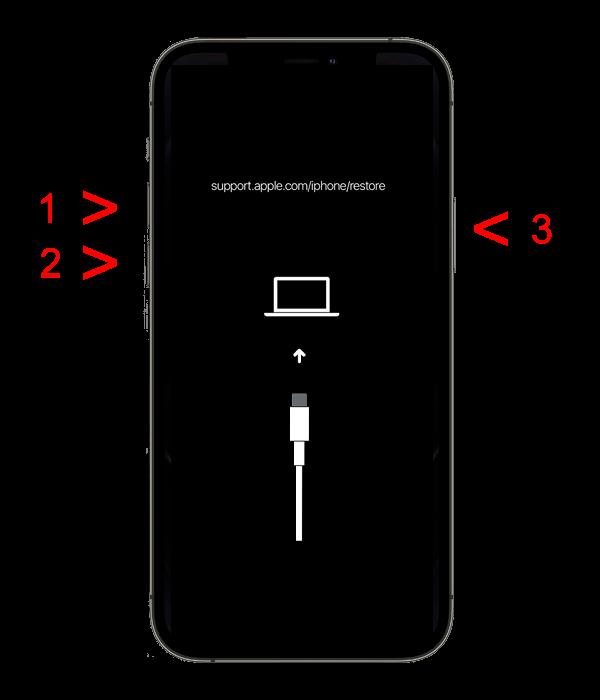 Перезапуск с помощью iTunes без потери данных - iPhone 8 и новее