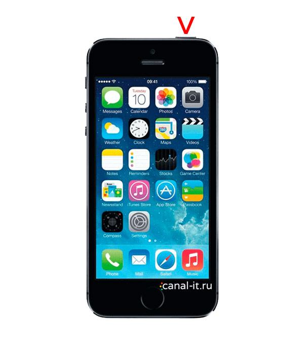 Мягкий способ перезагрузки iPhone 1st Gen (2G), 3G, 3Gs, 4, 4s, 5, 5s, 5c, 6, 6 Plus, 6s, 6s Plus, iPhone 7 и iPhone 7 Plus, SE (1-го поколения) все Айфоны с кнопкой Home: