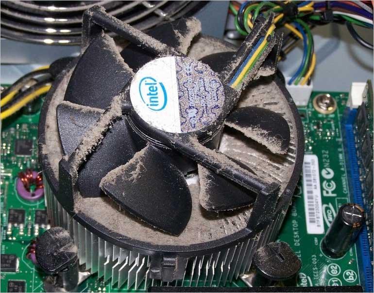 Причина перегрева процессора