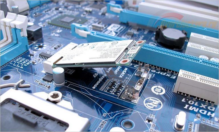 Установка SSD диска в разъем mSATS
